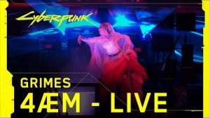 Cyberpunk 2077 – Grimes performing 4ÆM live at The Game Awards